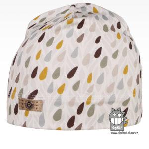 Bavlněná celopotištěná čepice - vzor 05 - bílá