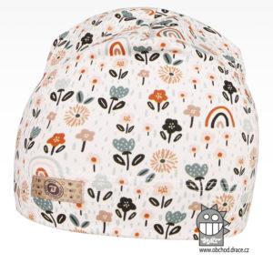Bavlněná celopotištěná čepice - vzor 07 - bílá