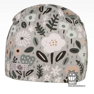 Bavlněná celopotištěná čepice - vzor 12 - šedá