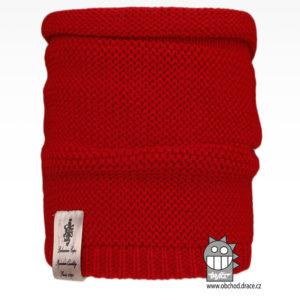 Nákrčník pletený Colors - vzor 28 - červená